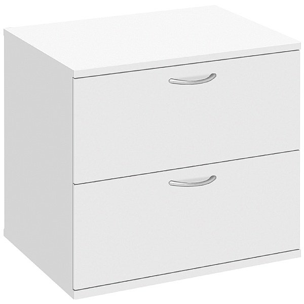 Commerce II White Desk High Side Filer