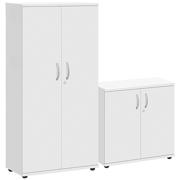 Commerce II White Office Cupboards