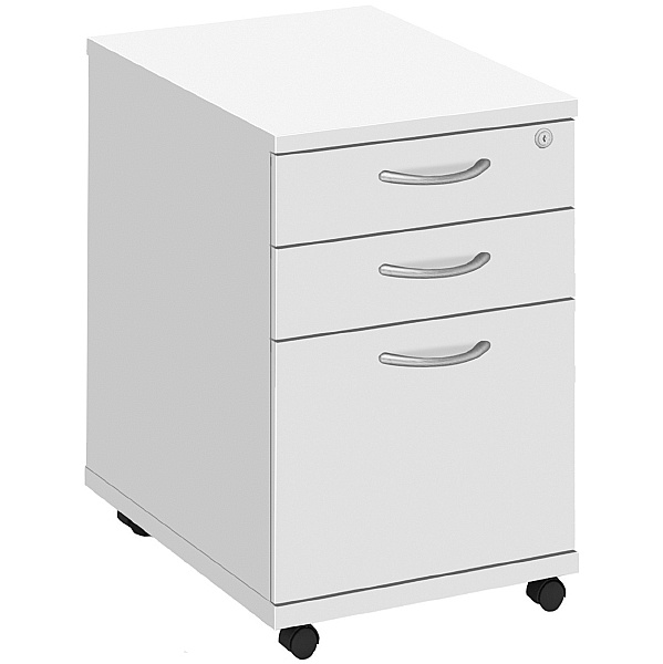 Commerce II White Under Desk High Mobile Pedestal