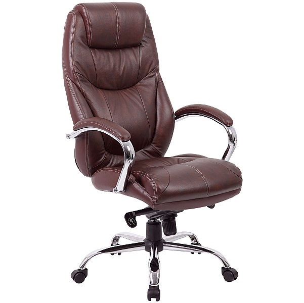 Genoa Top Leather Executive Office Chair Brown