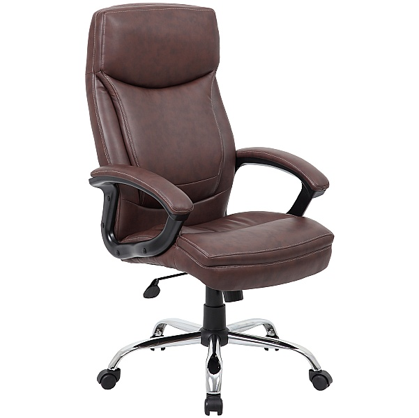 Modena Brown High Back Leather Manager Chairs