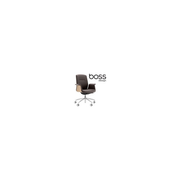 Boss Design Mea Mid Back Task Chair With Veneer Sh