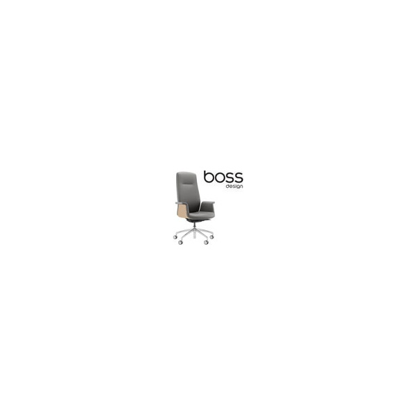 Boss Design Mea High Back Task Chair With Veneer