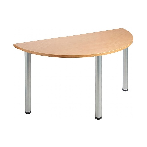 NEXT DAY Unite Semi Circular Tubular Leg Tables