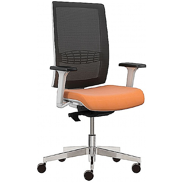 Pledge Kind Mesh Back White Task Chair