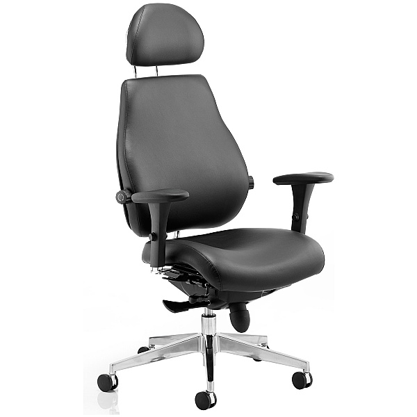 Vital 24Hr Ergonomic Deluxe Enviro Leather Chair With Headrest