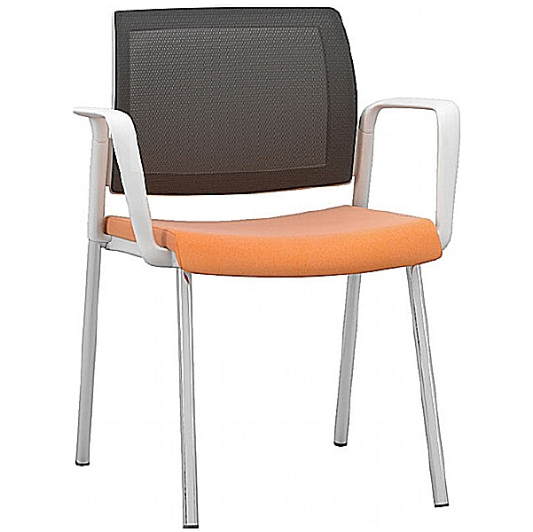 Pledge Kind Mesh Back White Meeting Chair