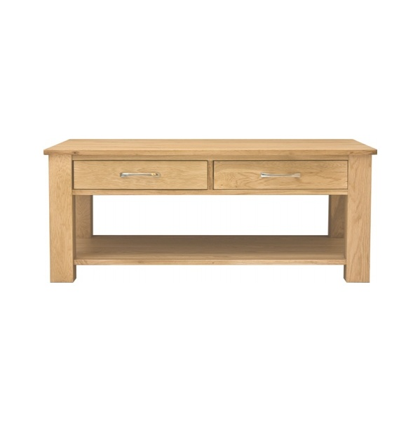 Cavalli Solid Oak 4 Drawer Coffee Table