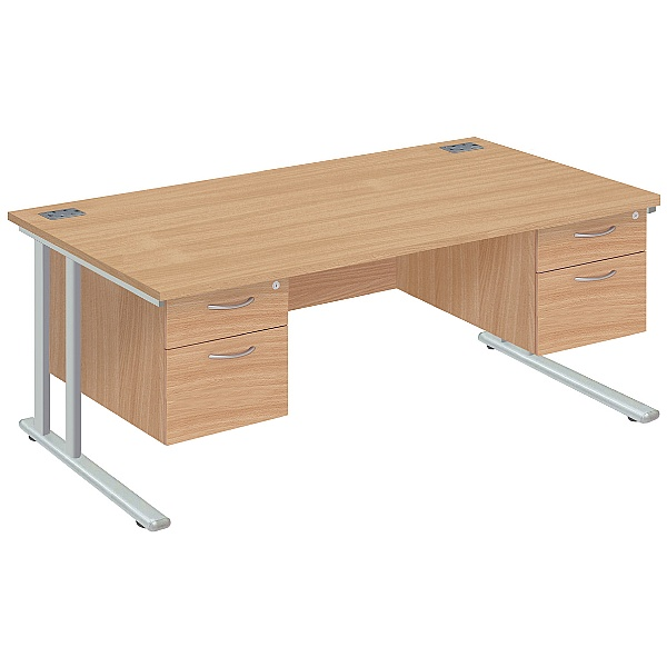 NEXT DAY Commerce II Deluxe Rectangular Desks With