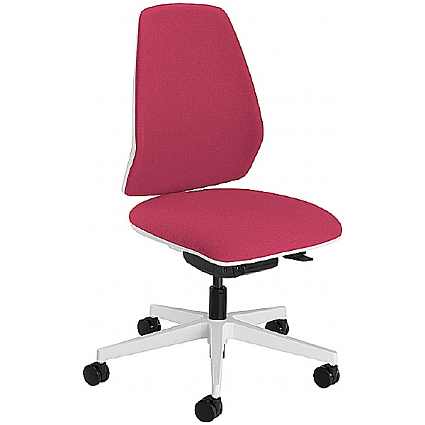 Summit Mono White Upholstered Back Task Chair