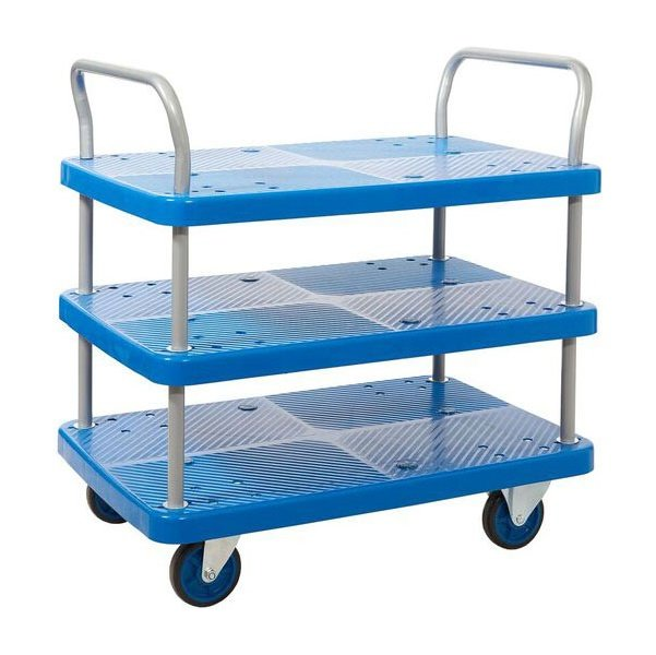 Three Tier Plastic Trolley