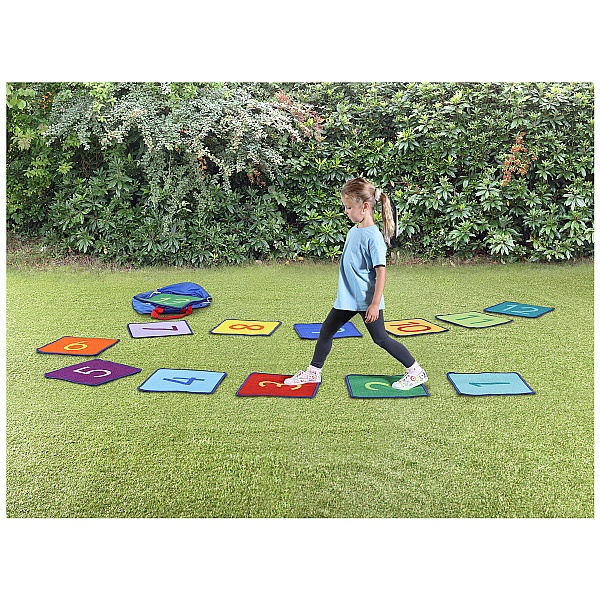 Rainbow Numbers Outdoor Play Mini Mat Squares