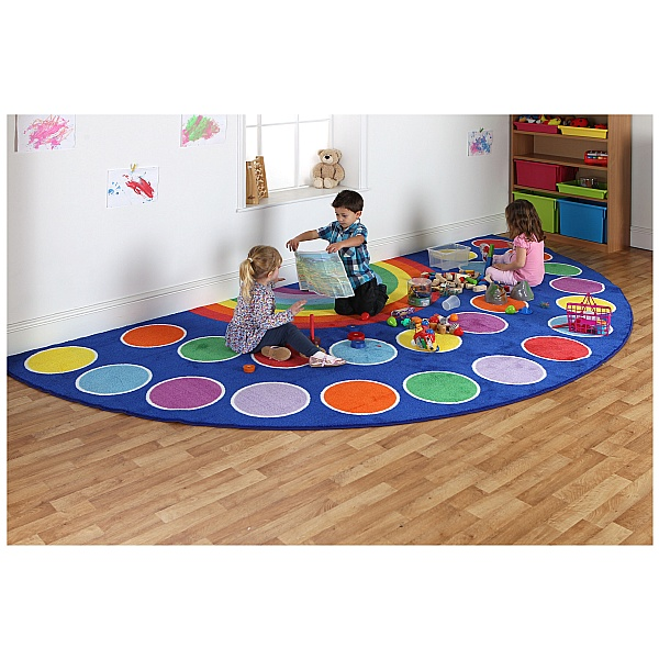 Rainbow Semi Circle Placement Mat