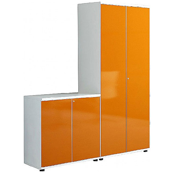 Oxide High Gloss Double Door Office Cupboards