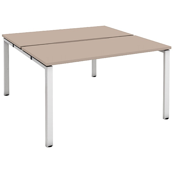 Unity Back to Back 2 Person Bench Desks