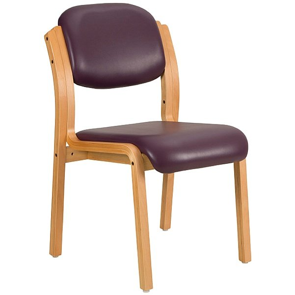 Titan Sierra Vinyl Wooden Framed Side Chair (Pack of 2)