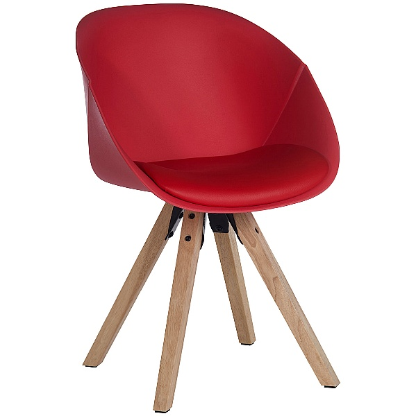 Piko Red Padded Tub Chair