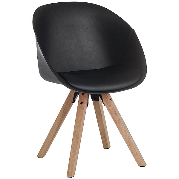 Piko Black Padded Tub Chair