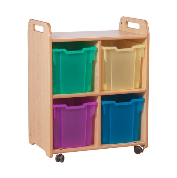PlayScapes 2 Column Shelf Storage Unit With Trays