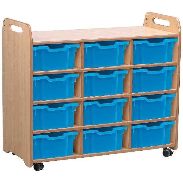 PlayScapes 3 Column Shelf Storage Unit With Trays