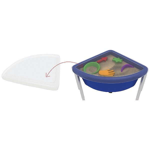 Top For Wisdom Sand & Water Quarter Circle Tub