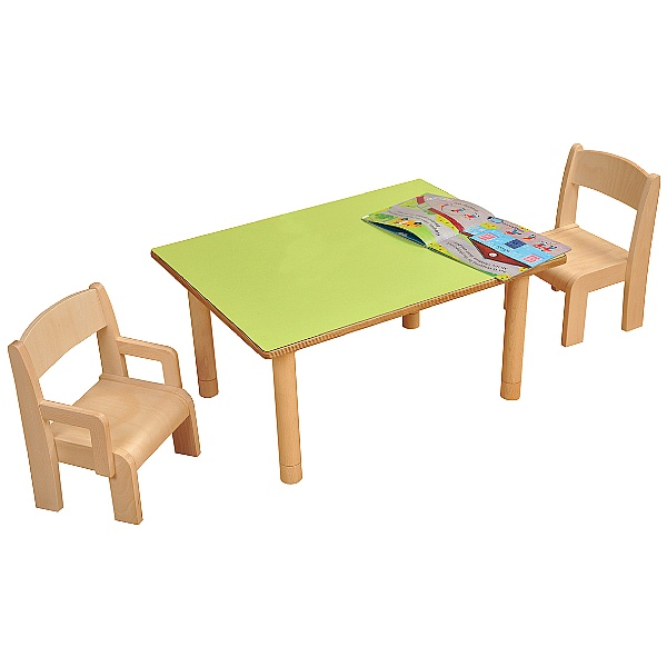 Height Adjustable Rectangular Classroom Table