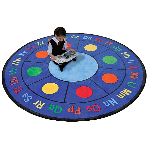 ABC Dots Round Rug