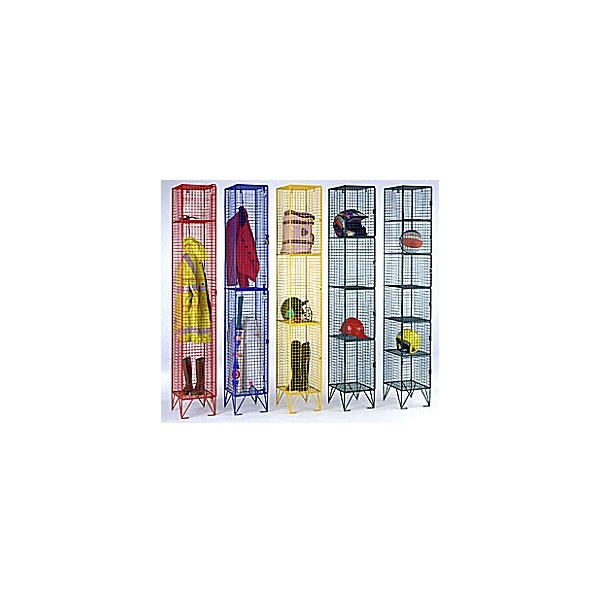 Coloured Wire Mesh Lockers