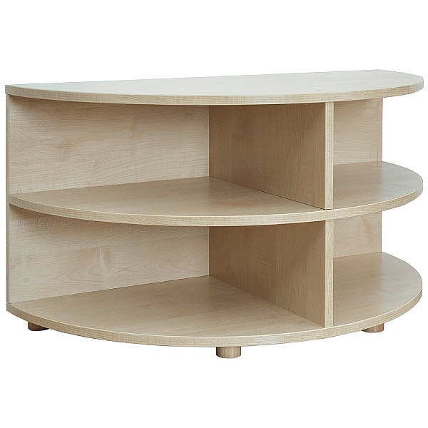 Reading Nook Rounded End Storage Unit