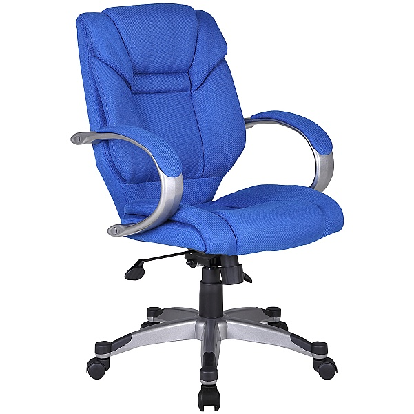 Fiji Fabric Manager Chair - Blue