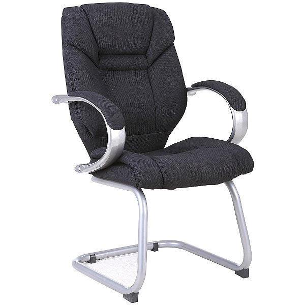Fiji Fabric Visitor Chair - Black