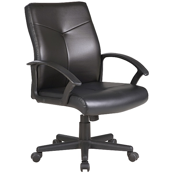 Adept Medium Back Leather Faced Office Chair