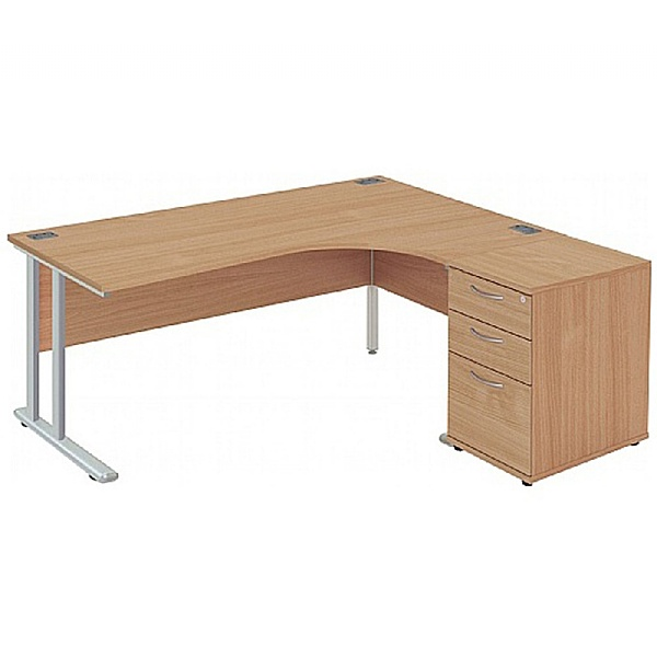 NEXT DAY Commerce II Deluxe Ergonomic Desk With De