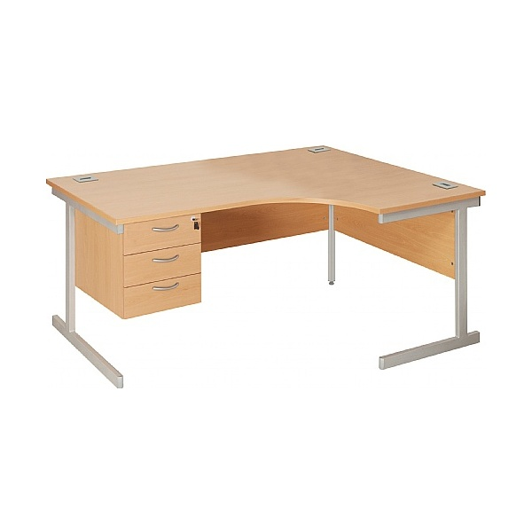 Next Day Commerce II Ergonomic Desks With Fixed Pe