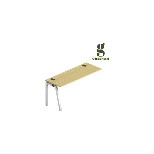Angled Leg Fixed Top Rectangular Add On Desks