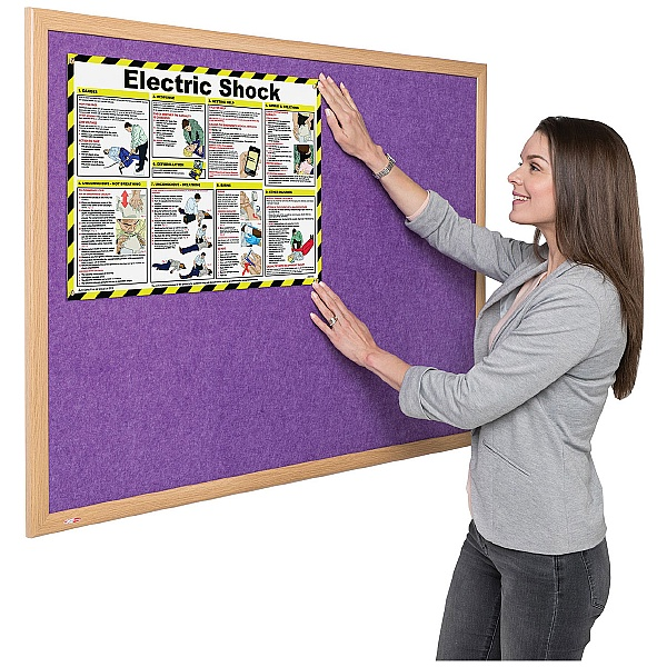 Eco-Colour Light Oak Noticeboards