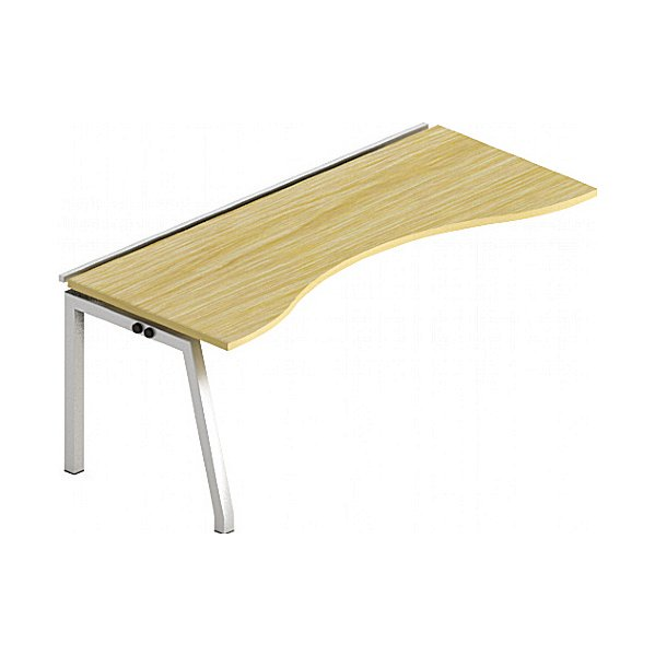Gresham Bench² Angled Leg Sliding Top Double Wave Add On Desks