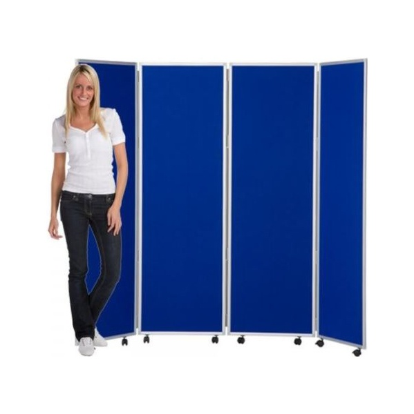 Concertina 4 Panel Mobile Room Dividers 1200H