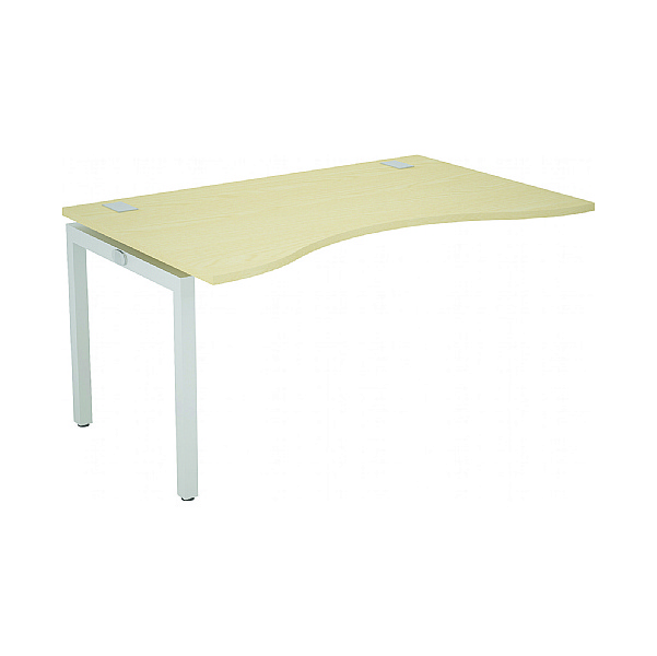 Gresham Bench² Straight Leg Fixed Top Double Wave Add On Desks