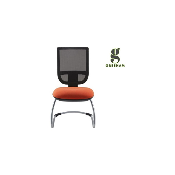 Gresham Move Up Mesh Back Cantilever Visitor Chair