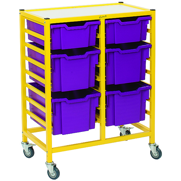 Gratnells Dynamis Collection Mixed Tray 2 Column Storage Trolley