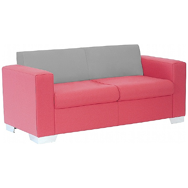 Summit Graphic Low Back Two Seater Reception Sofa