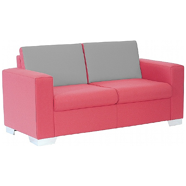 Summit Graphic High Back Two Seater Reception Sofa