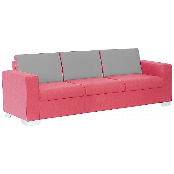 Summit Graphic High Back Three Seater Reception Sofa
