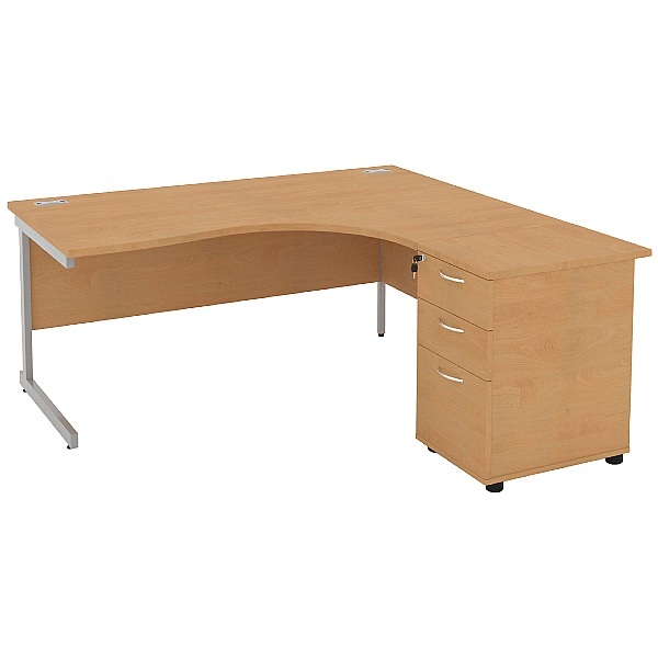 Special Offer - NEXT DAY Solar Cantilever Combi Desks