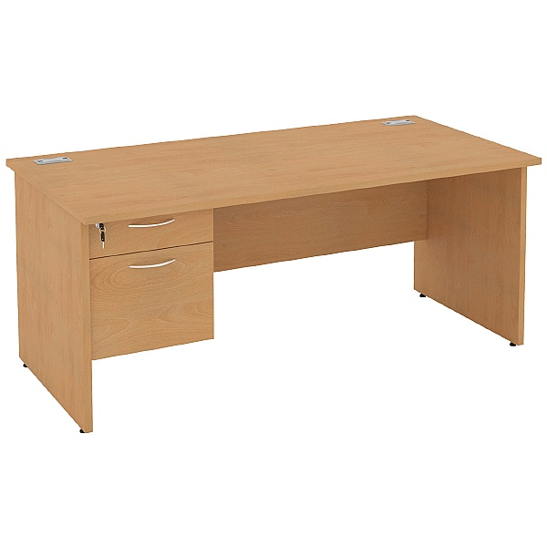 Rectangular Desks With Single Fixed Pedestal