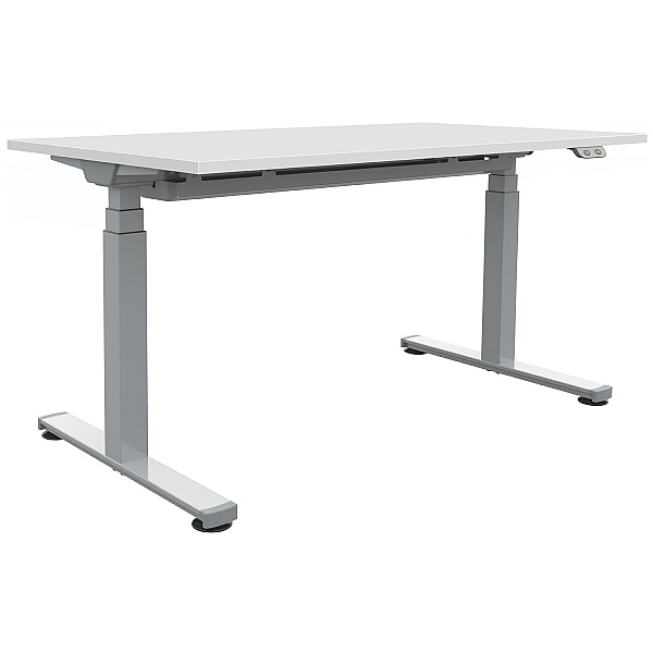 Commerce II White Sit-Stand Desks