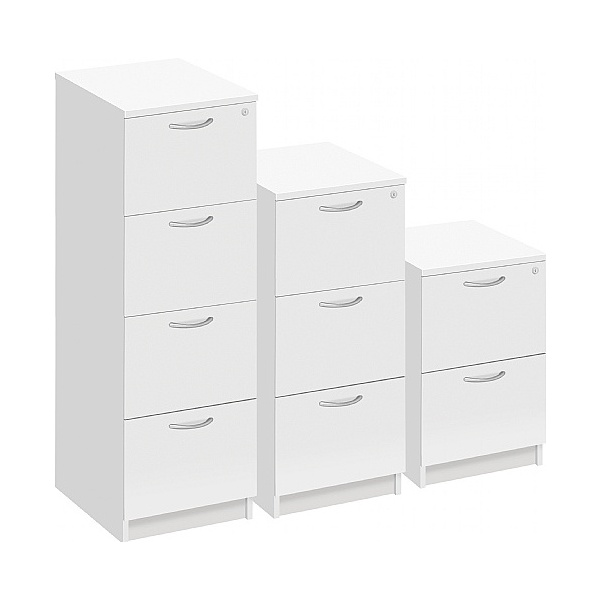 NEXT DAY Commerce II White Filing Cabinets
