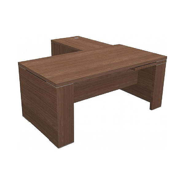 Gardena II Panel End Rectangular Desks With Return