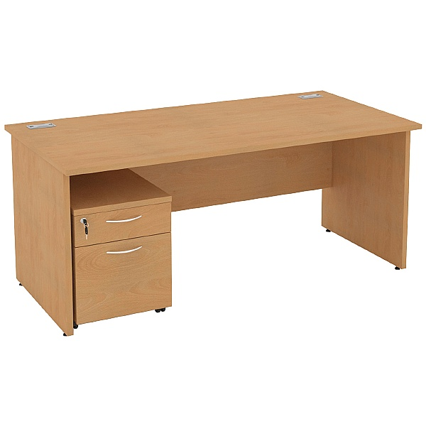Rectangular Panel End Desks With Mobile Pedestal